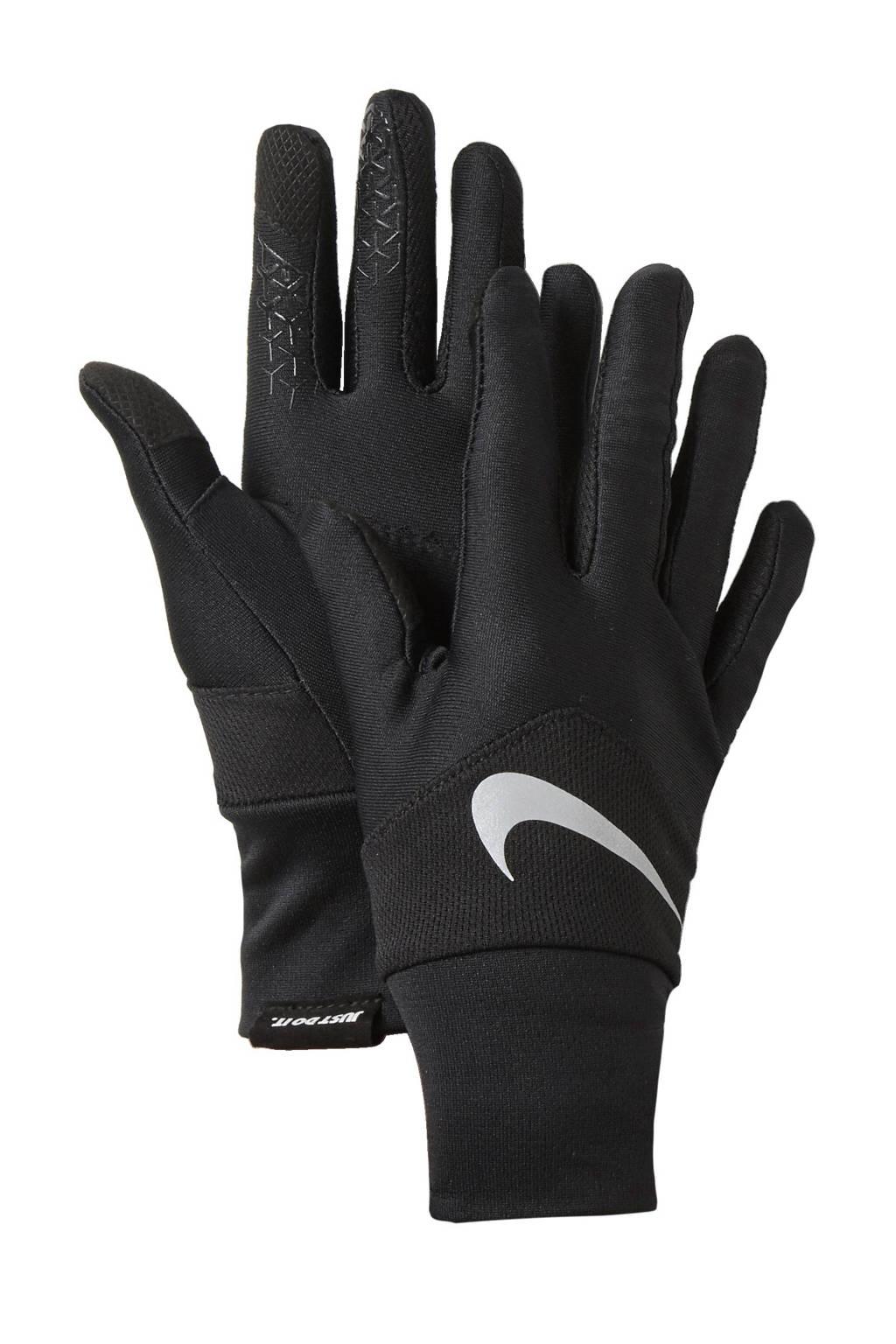 Nike   hardloop handschoenen, Zwart