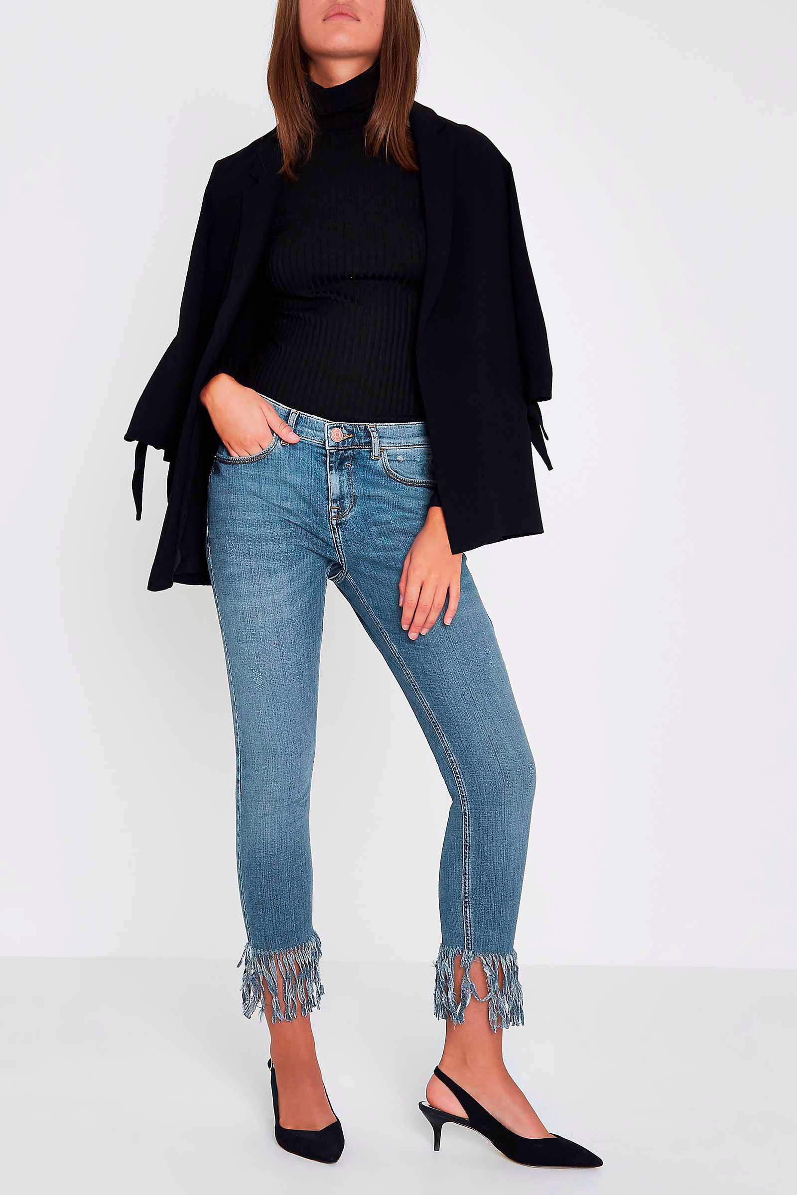 da238616766779 River Island skinny jeans met gerafelde zoom   wehkamp
