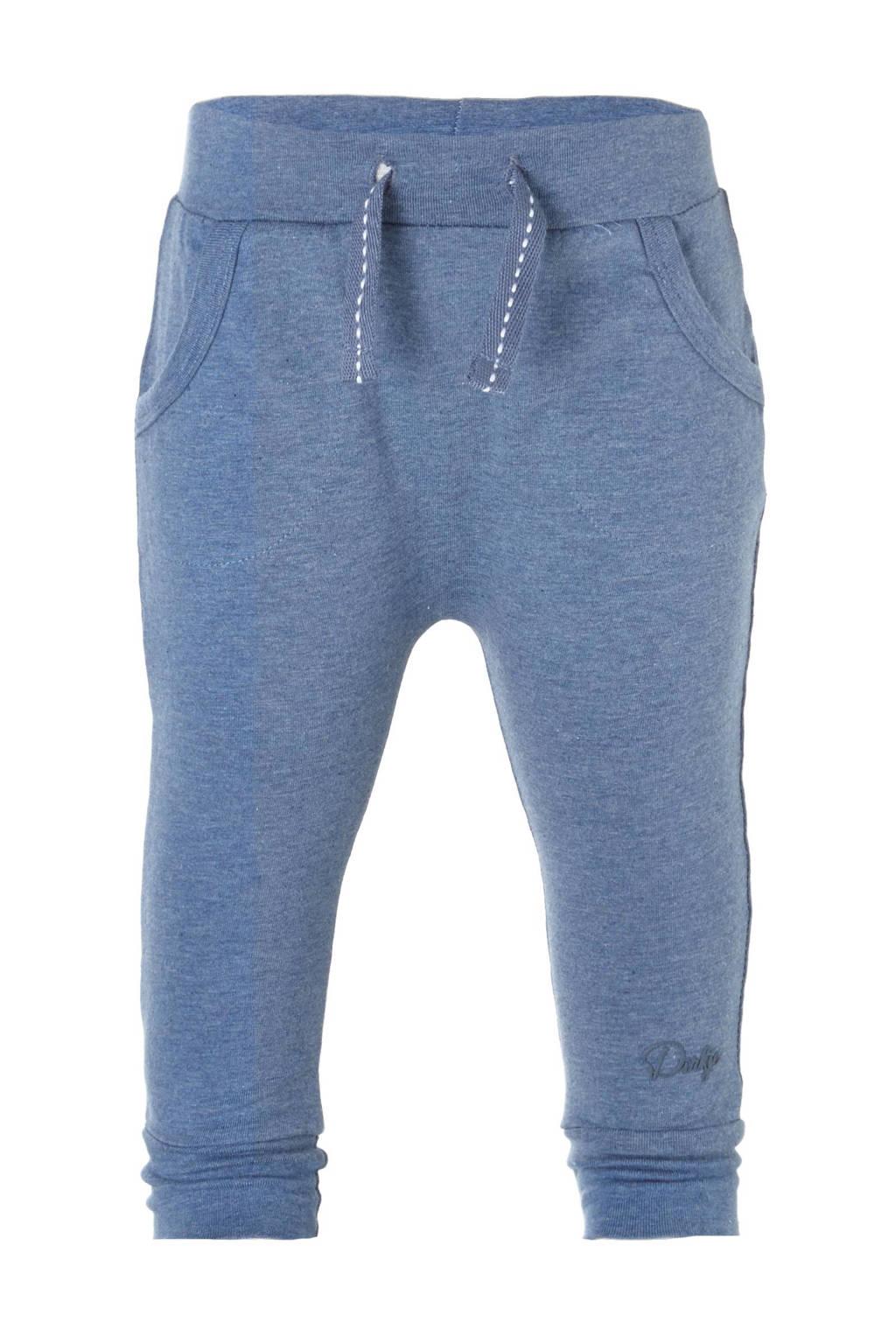 Dirkje   joggingbroek blauw melange