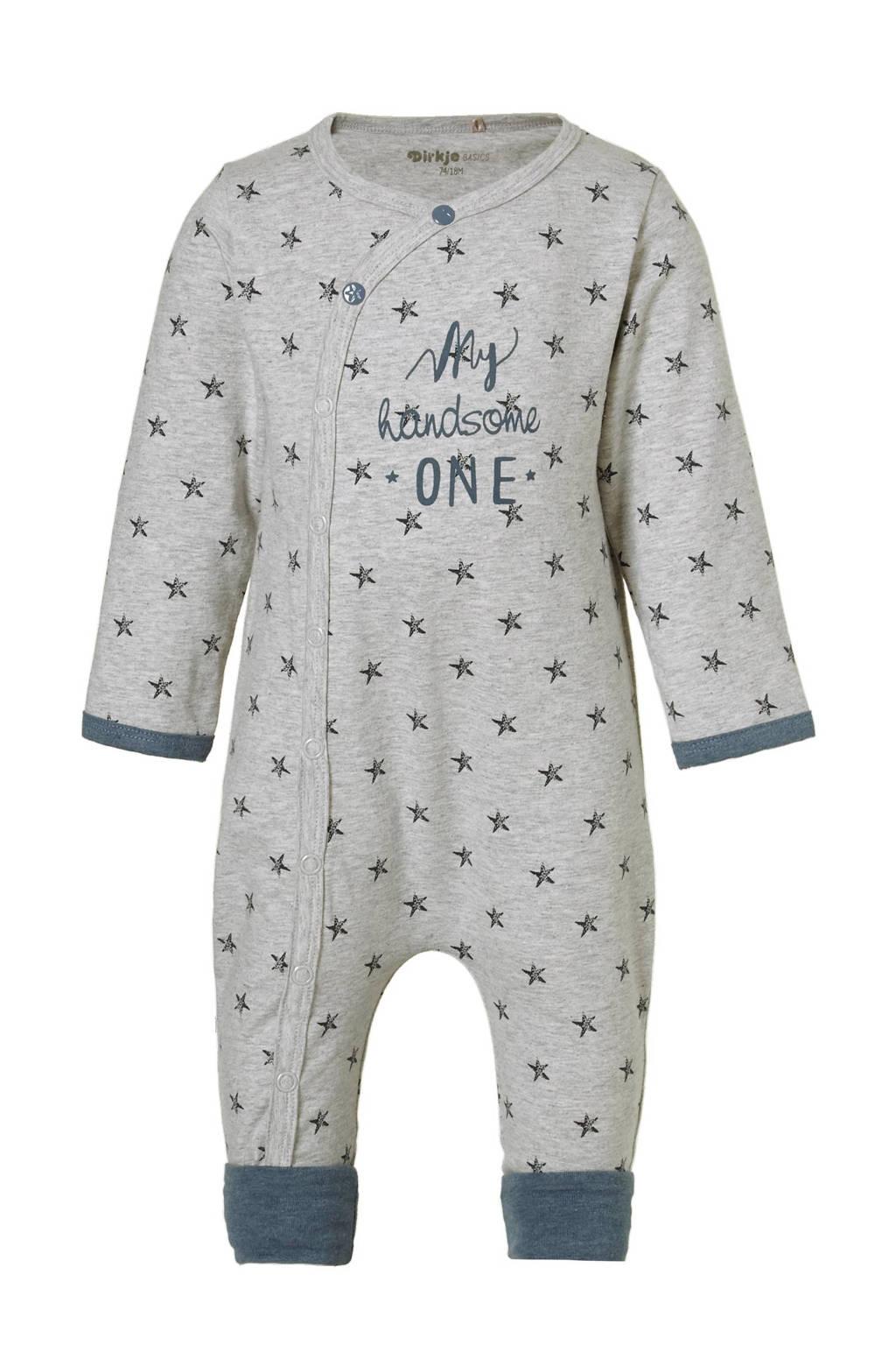 Dirkje newborn baby boxpak, grijs/blauw melange