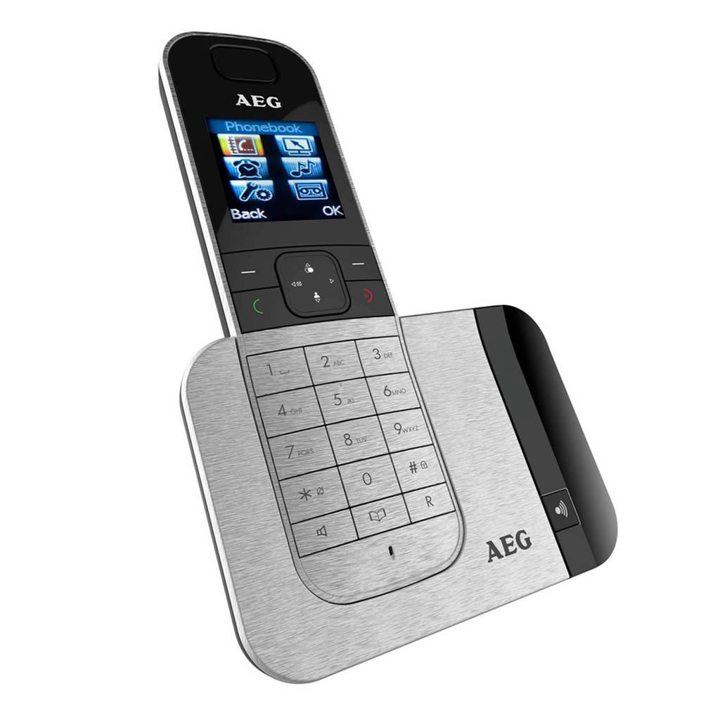 AEG Voxtel D570 Single huistelefoon, Zilver/zwart