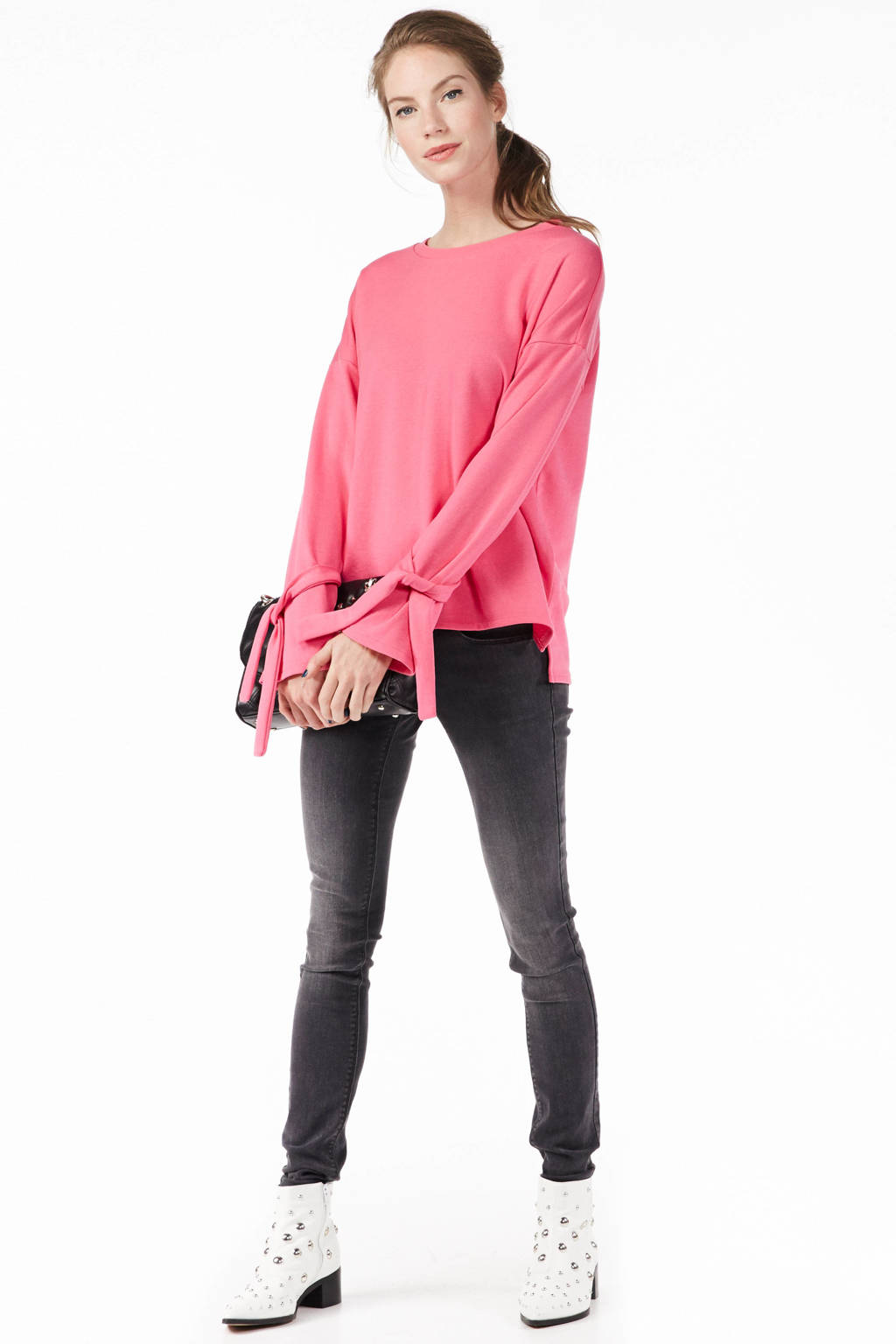 ONLY low waisted skinny fit jeans, Grijs