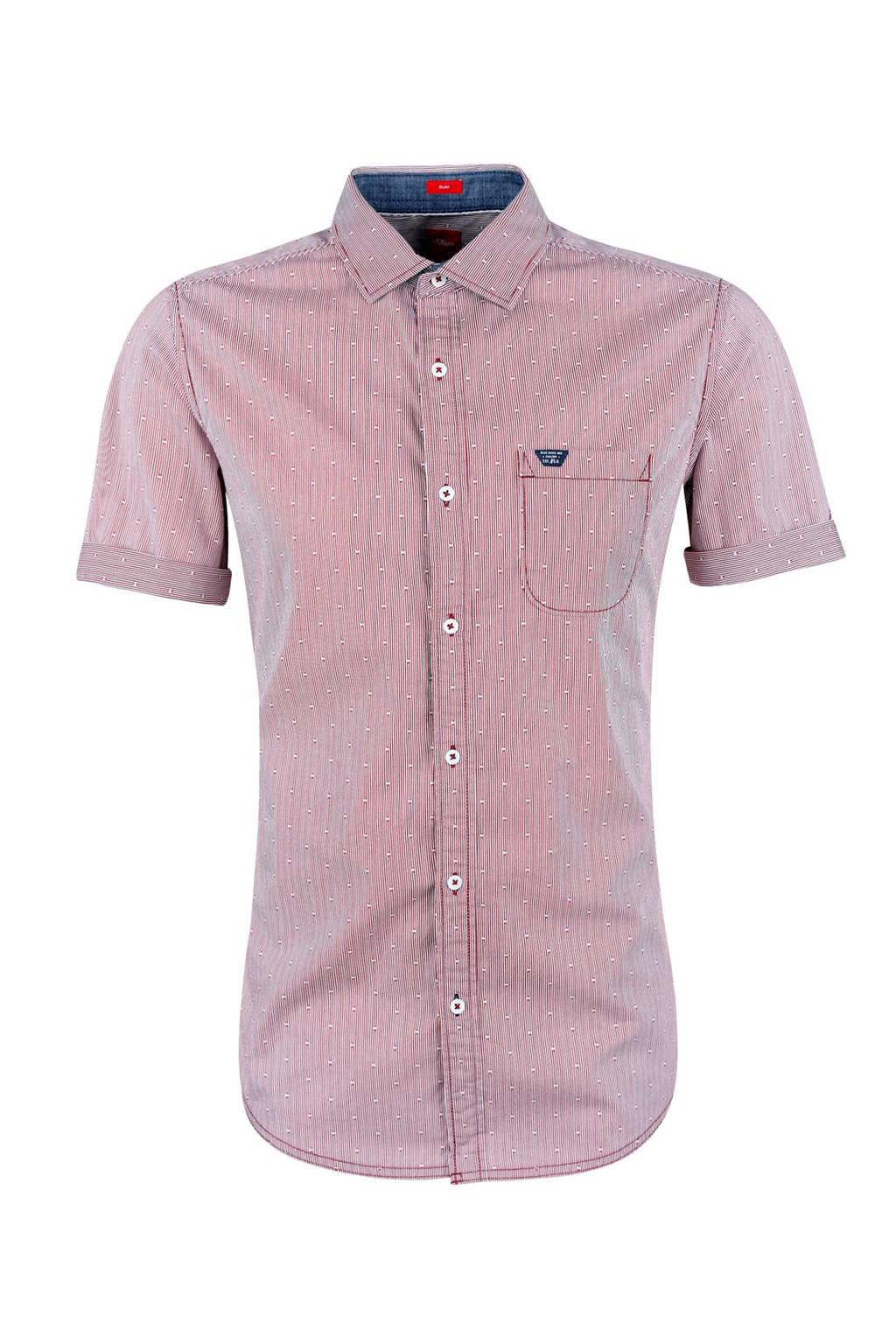Rood Overhemd Slim Fit.S Oliver Slim Fit Overhemd Wehkamp