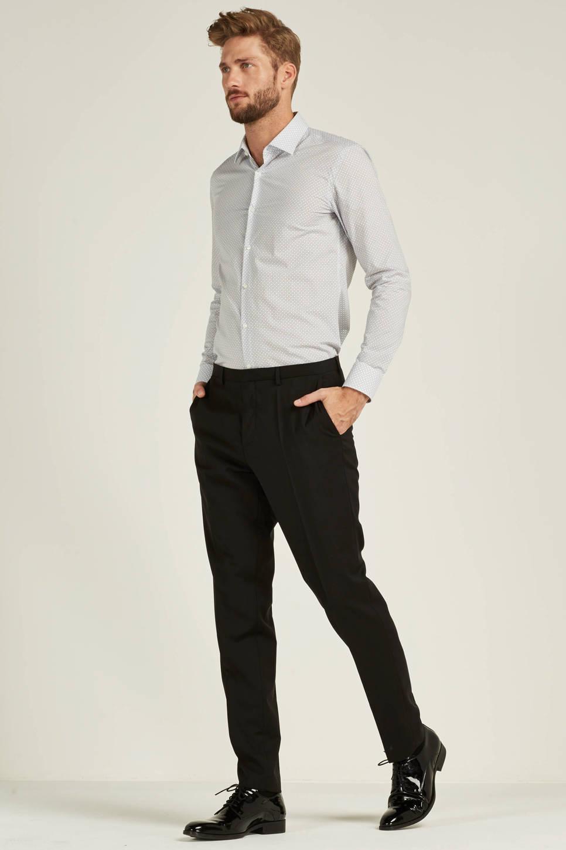 HUGO C-Jenno slim fit overhemd (heren), Wit/marine