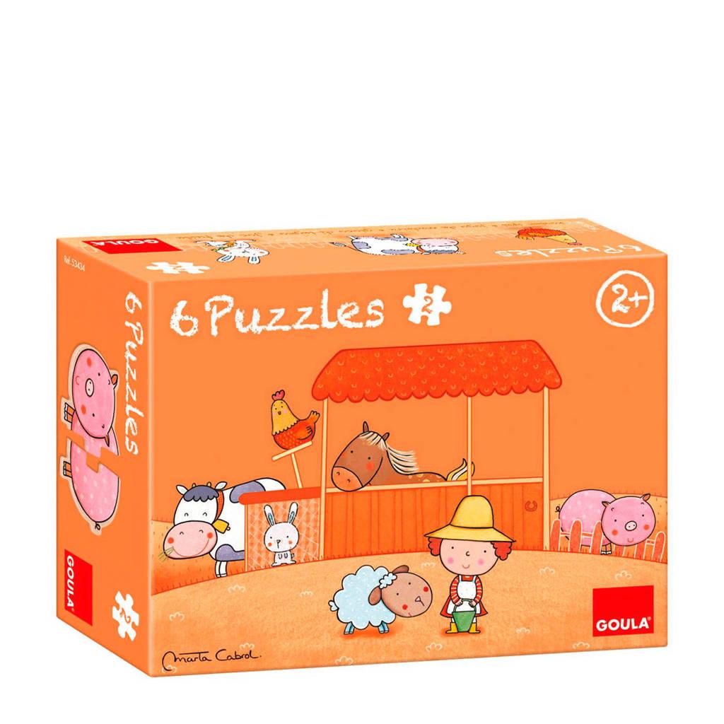 Goula Carla's boerderij houten legpuzzel 12 stukjes