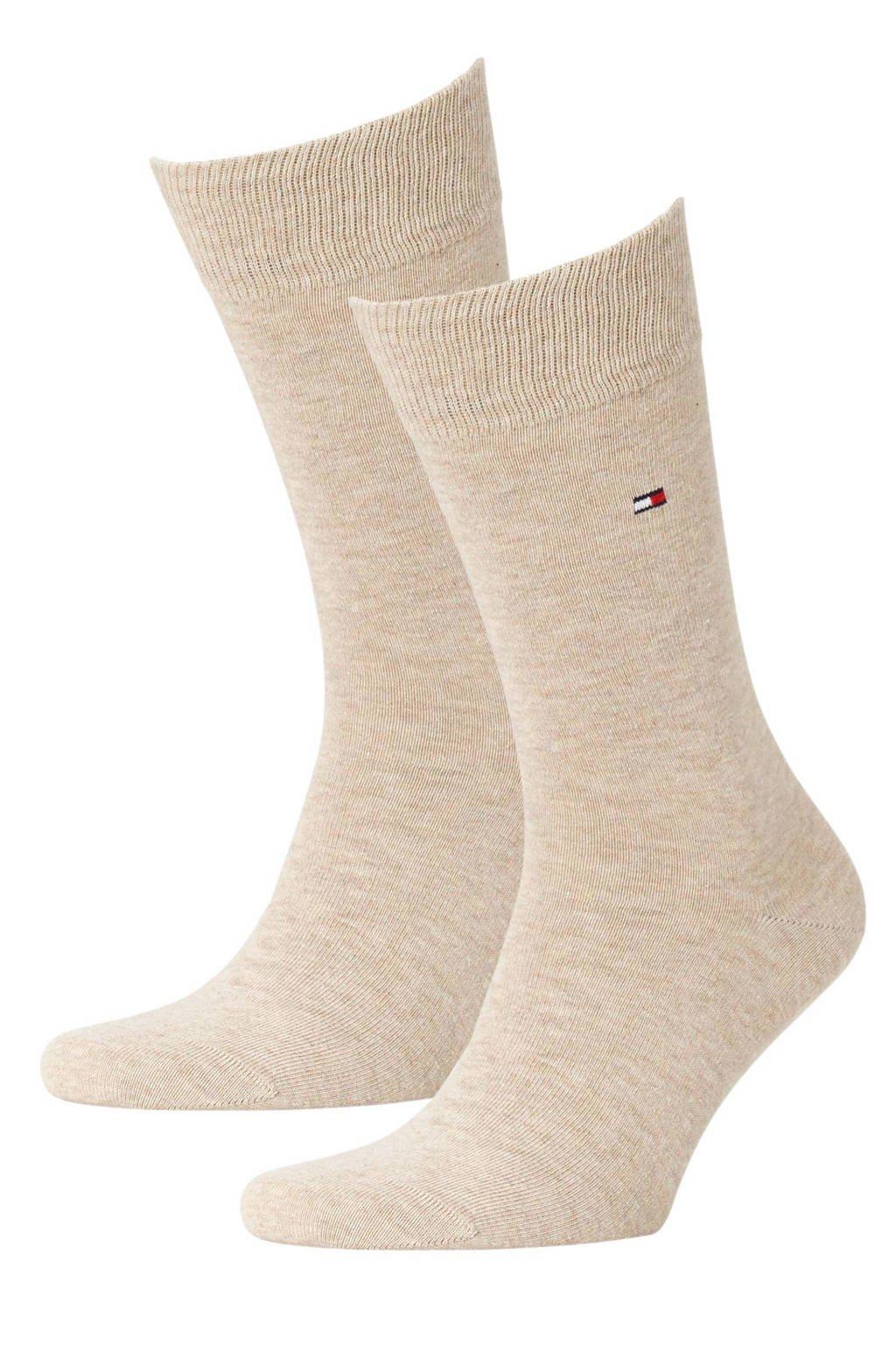 Tommy Hilfiger sokken - set van 2 beige, Beige