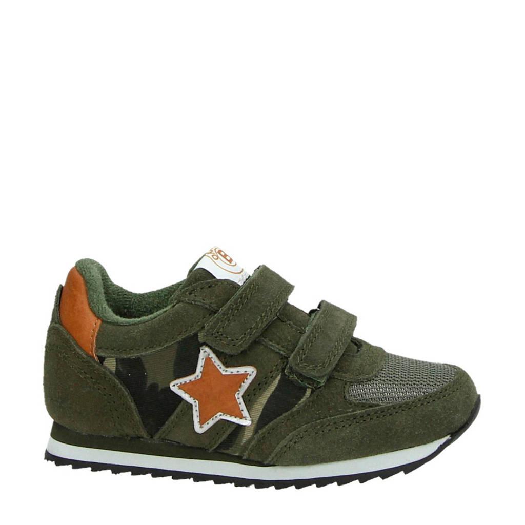 Orange Babies   suède sneakers groen/oranje, kaki/oranje