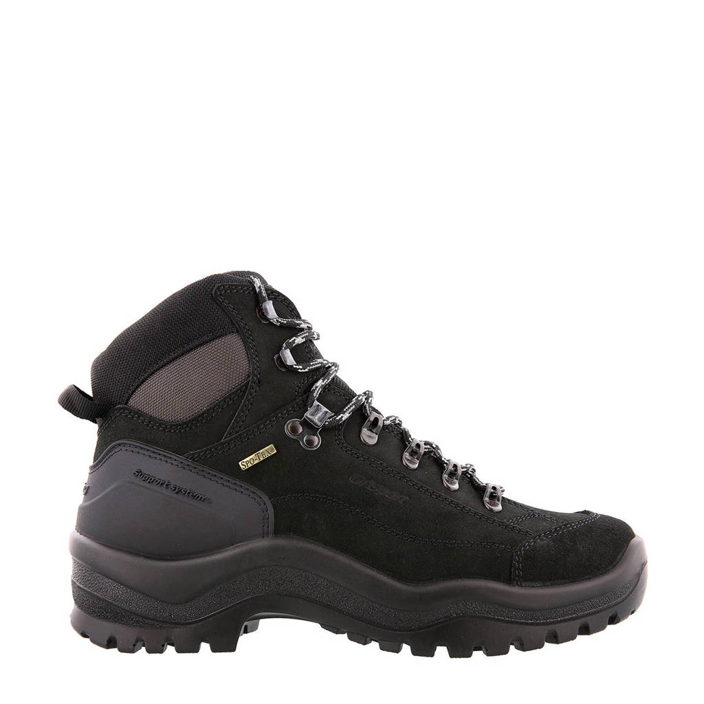 Grisport  nubuck wandelschoenen, Zwart