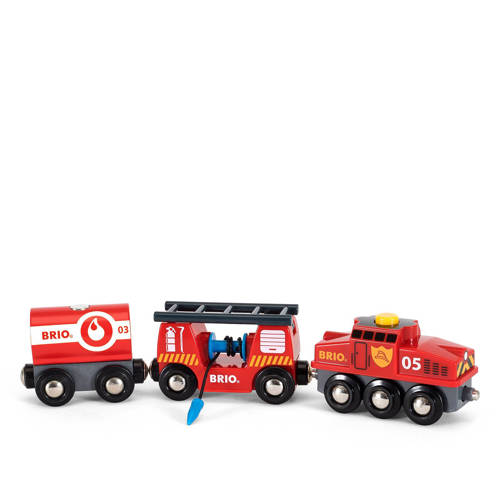 Brio houten trein van de brandweer kopen