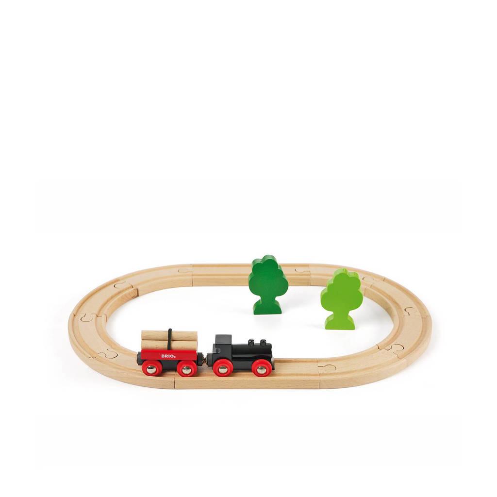 Brio houten treinset met bomen