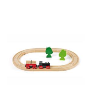 houten treinset met bomen