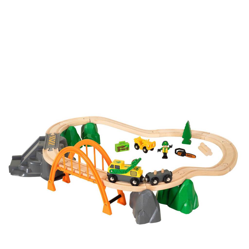 Brio houten treinset boswerker