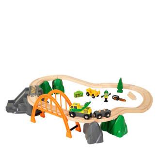 houten treinset boswerker