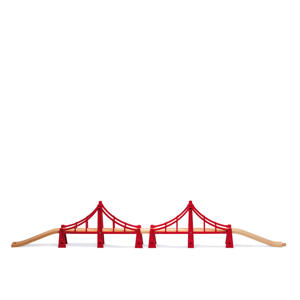 houten dubbele hangbrug