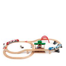houten treinset met perron