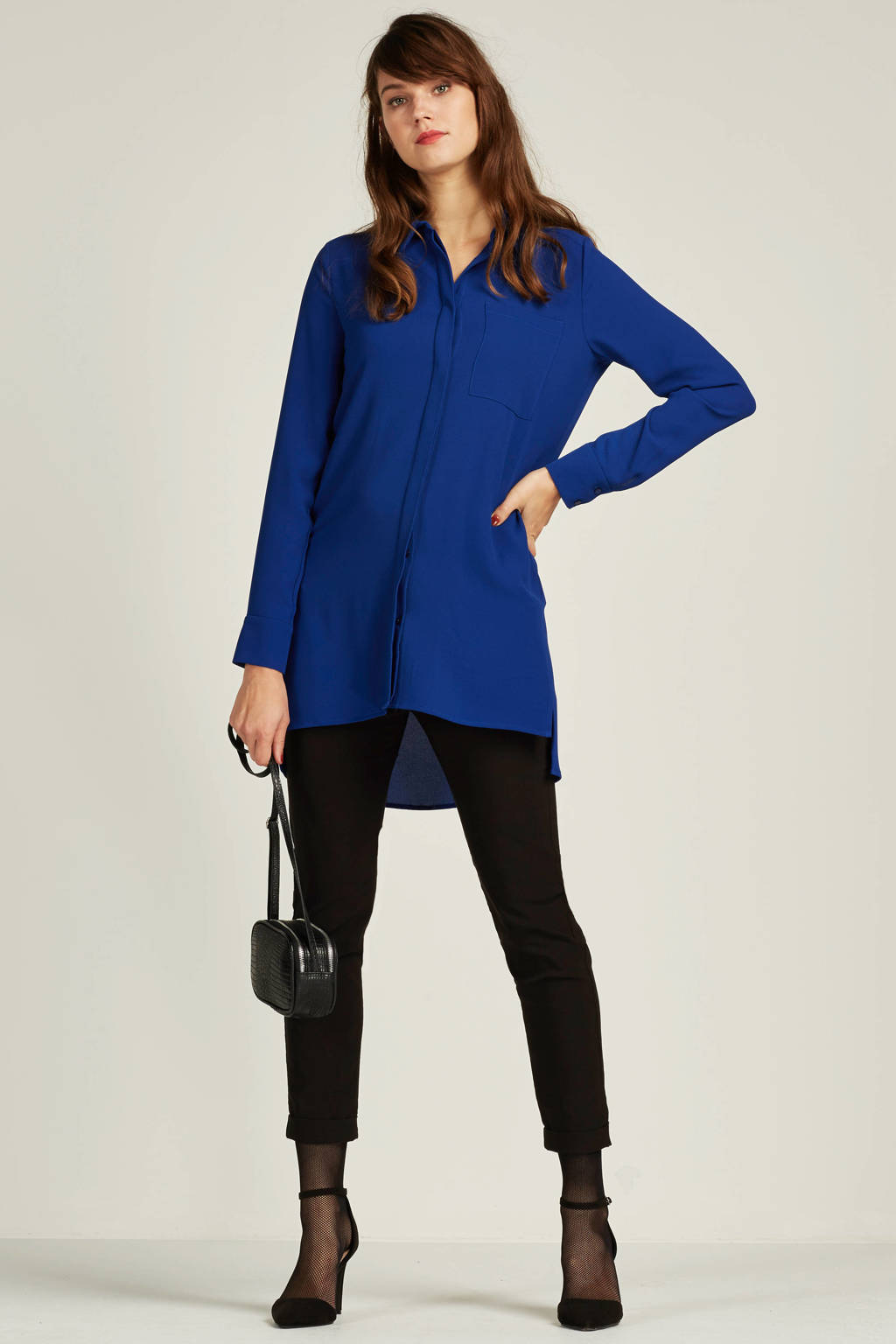 whkmp's own gerecycled polyester blouse, Kobaltblauw