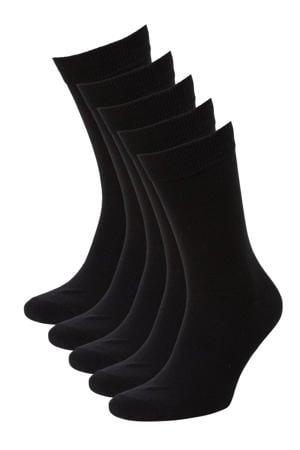 sokken set van 5 paar zwart