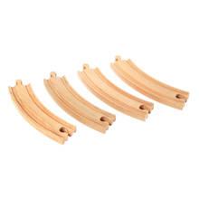 houten lange gebogen rails