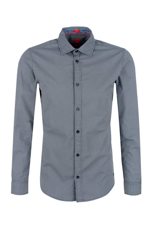 Heren Slim Fit Overhemd.S Oliver Red Label Slim Fit Overhemd Heren Wehkamp