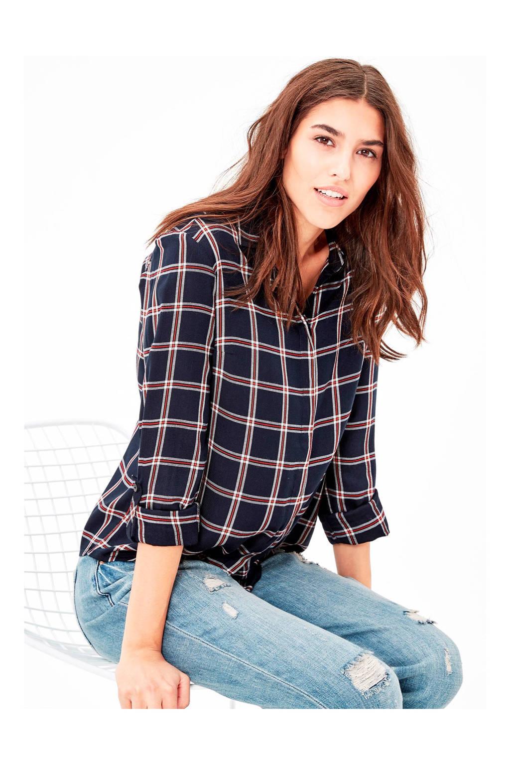 s.Oliver blouse, Marine/rood/wit