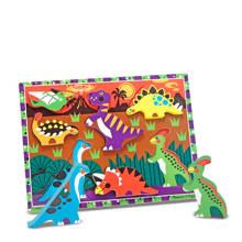 Chunky dinosauriërs houten vormenpuzzel 7 stukjes