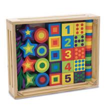 houten cijfers en figuren kralenset