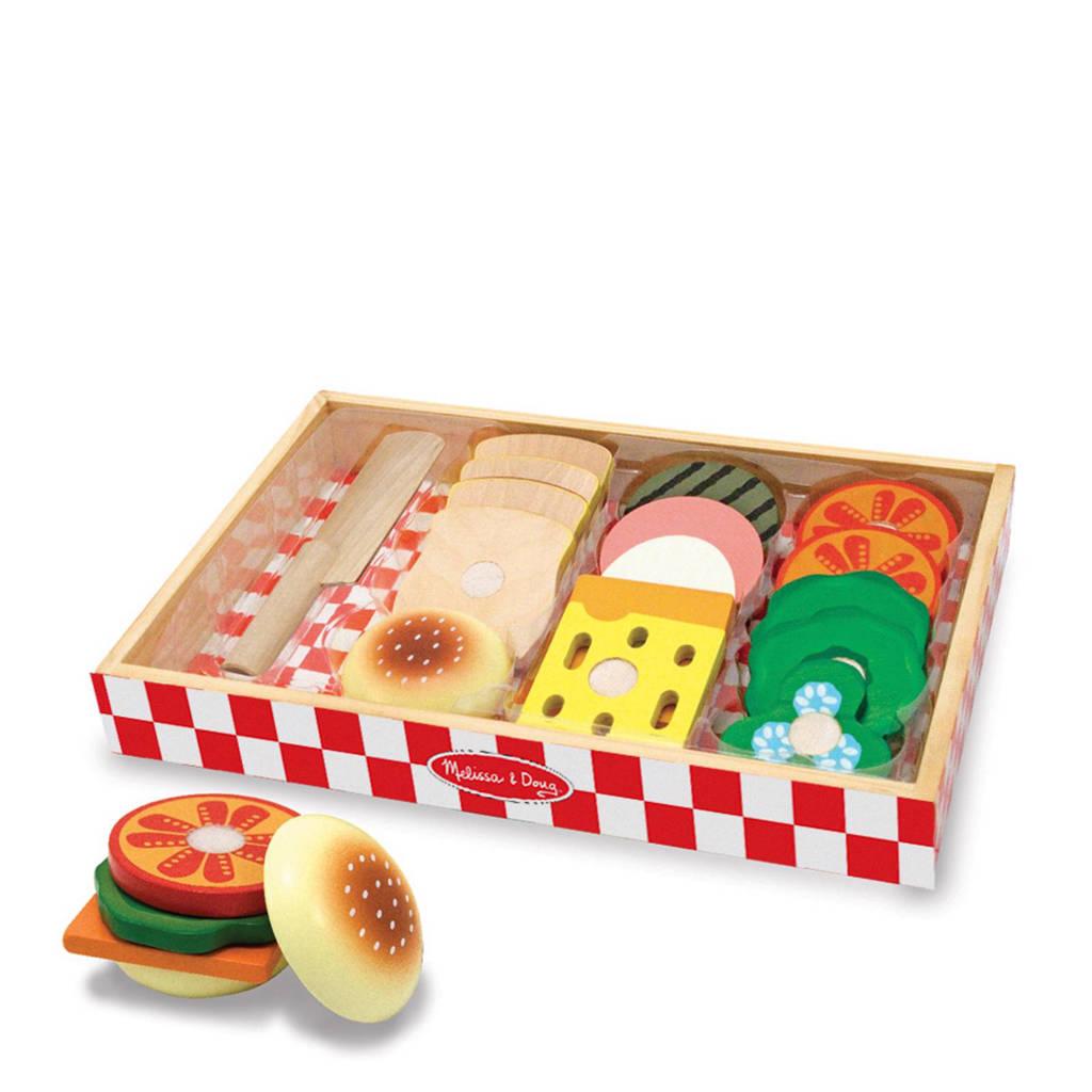 Melissa & Doug houten sandwich set