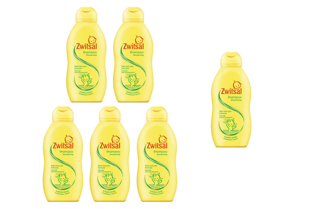 Zwitsal shampoo - 6x200 ml - baby, 6 x 200 ml