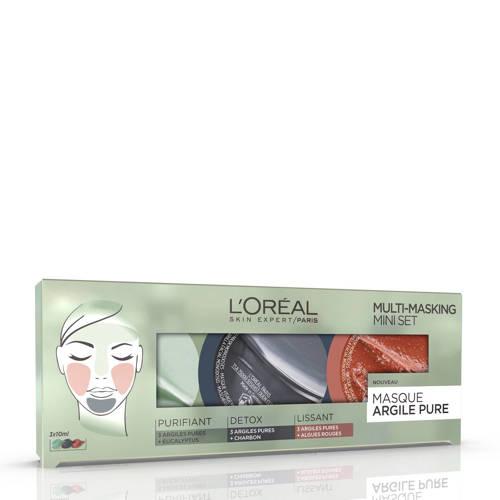 L'Oréal Paris Skin Expert Pure Clay Multimask Kit - gezichtsmasker