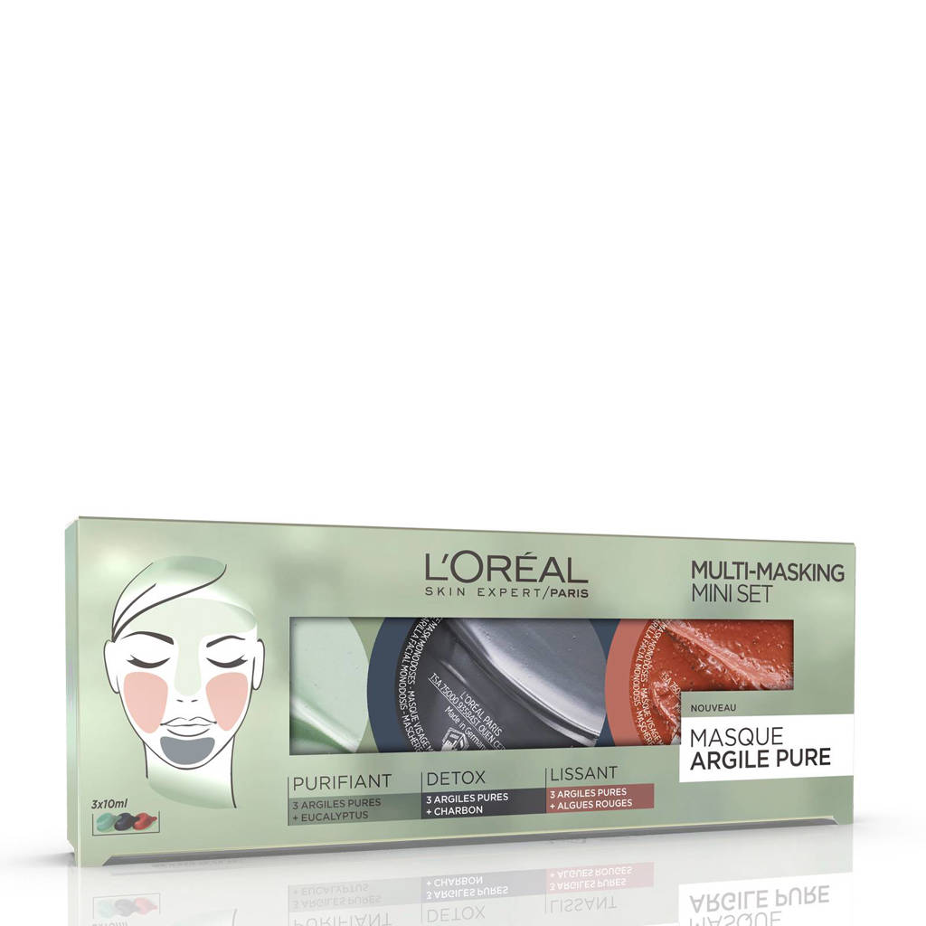 L'Oréal Paris Skin Expert Pure Clay Multimask Kit - gezichtsmasker