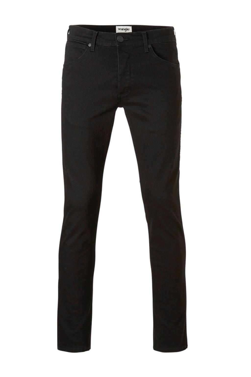 Wrangler  regular Greensboro regular straight fit jeans, Zwart
