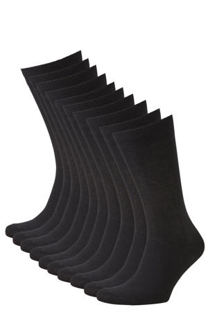 sokken set van 10 paar zwart