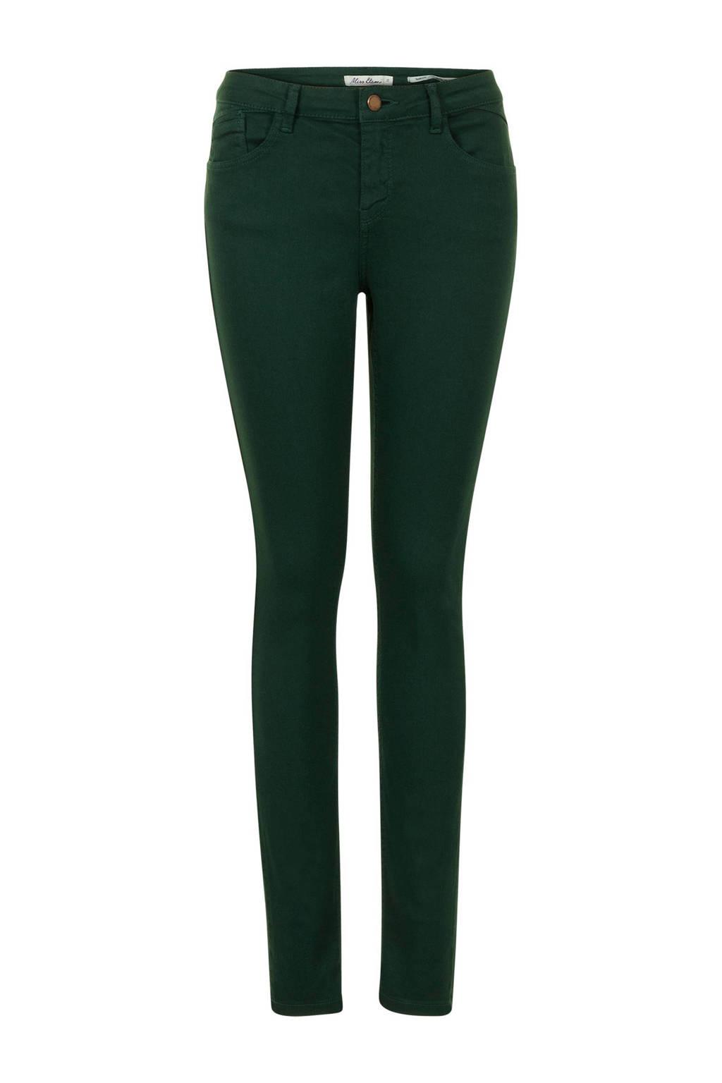 Miss Etam Regulier slim fit broek 32 inch, Donkergroen