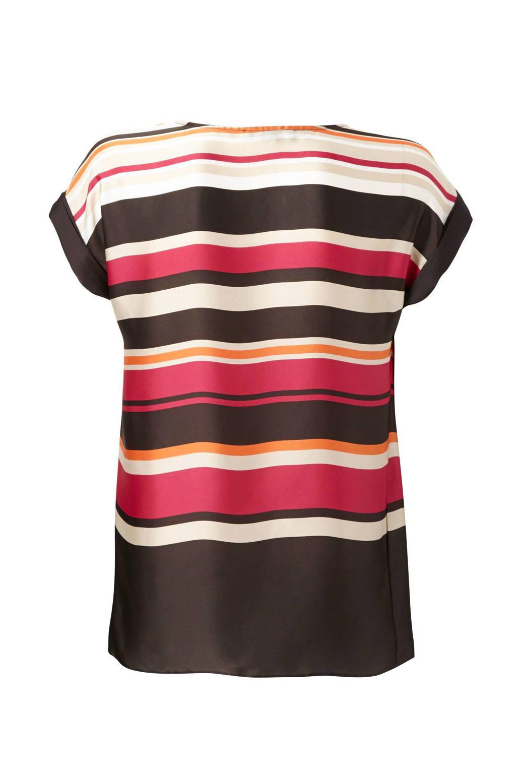 C&A Yessica Pure top, Bruin/roze/oranje