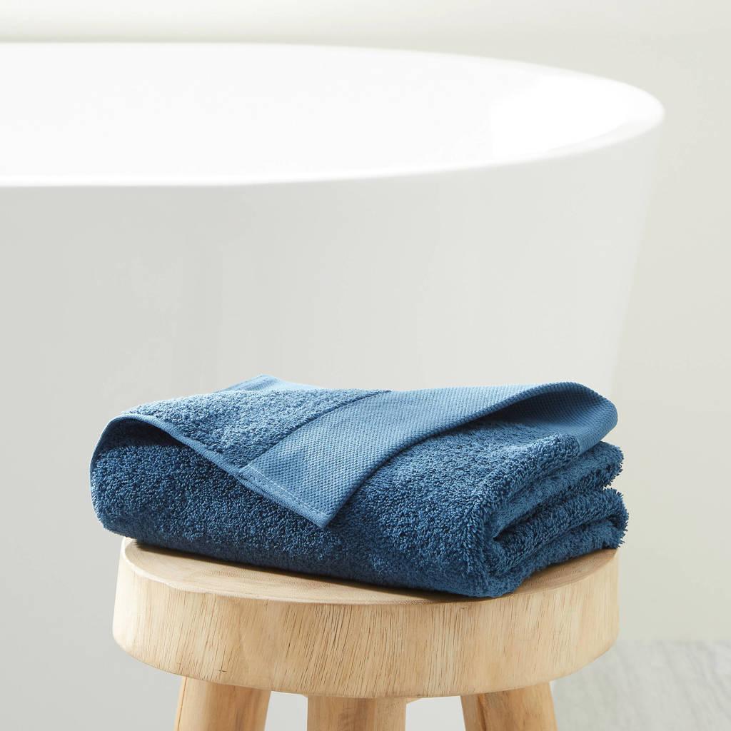 wehkamp home handdoek hotelkwaliteit (50 x 100 cm) Donkerblauw