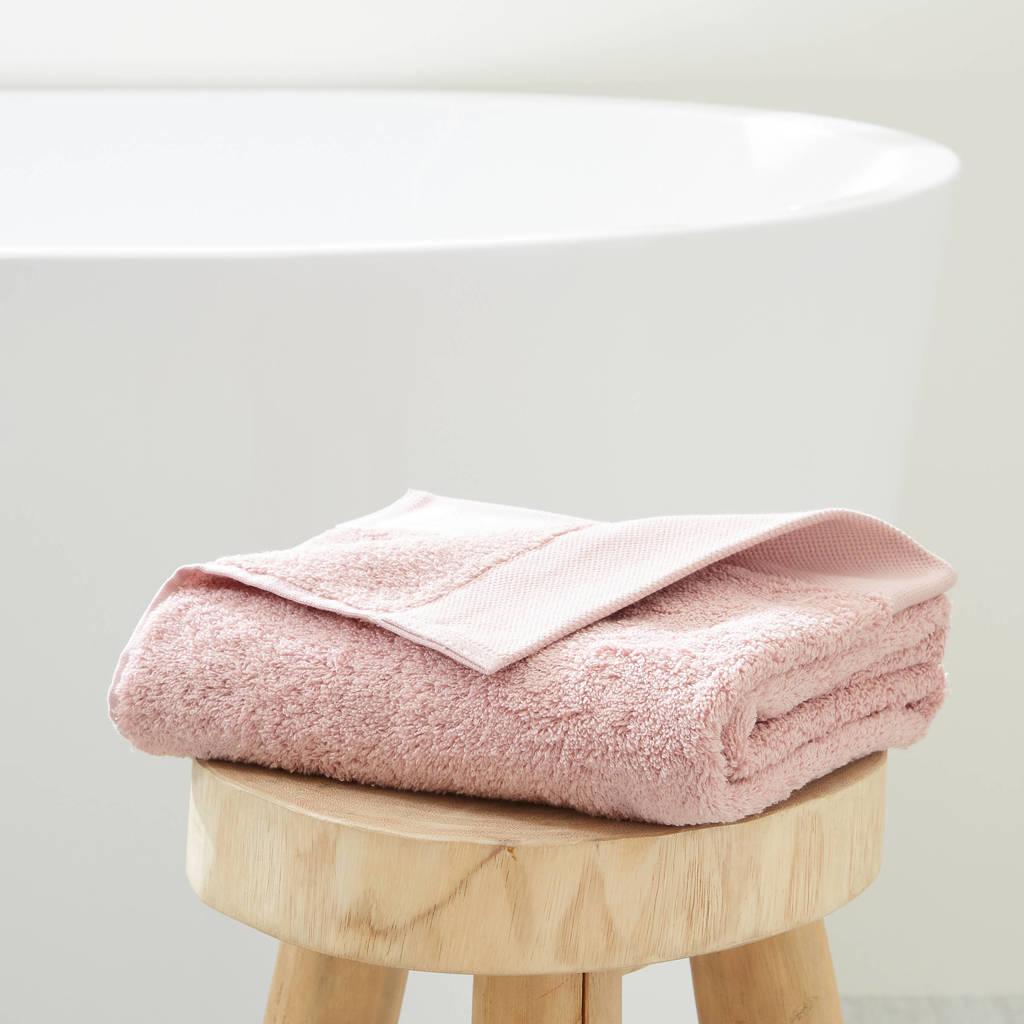 wehkamp home handdoek hotelkwaliteit (50 x 100 cm) Oudroze