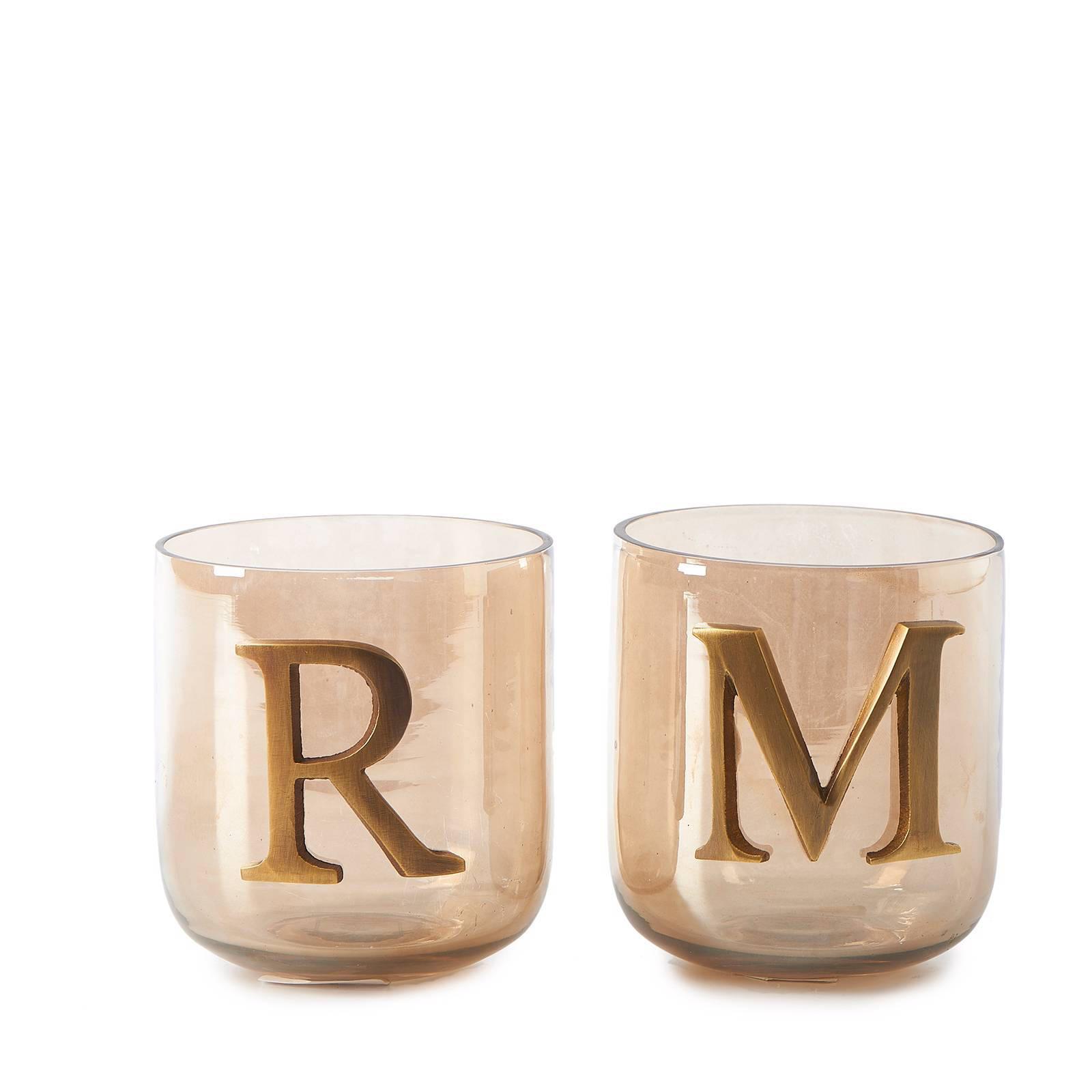 Vaak Riviera Maison waxinelichthouder RM Letter (set van 2) | wehkamp &OV77