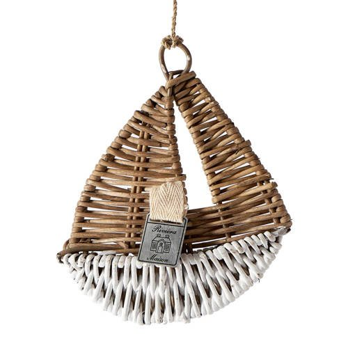decoratie zeilboot Rustic Rattan