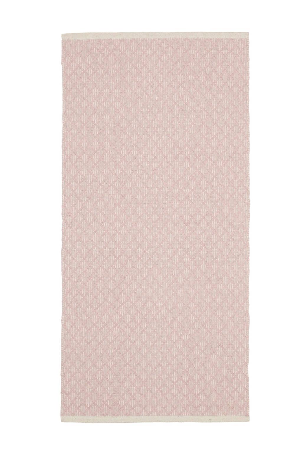Kidsdepot vloerkleed  (140x70 cm), Roze/ecru