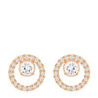 Swarovski Creativity Rose Crystal oorstekers, Rose goud/zilver