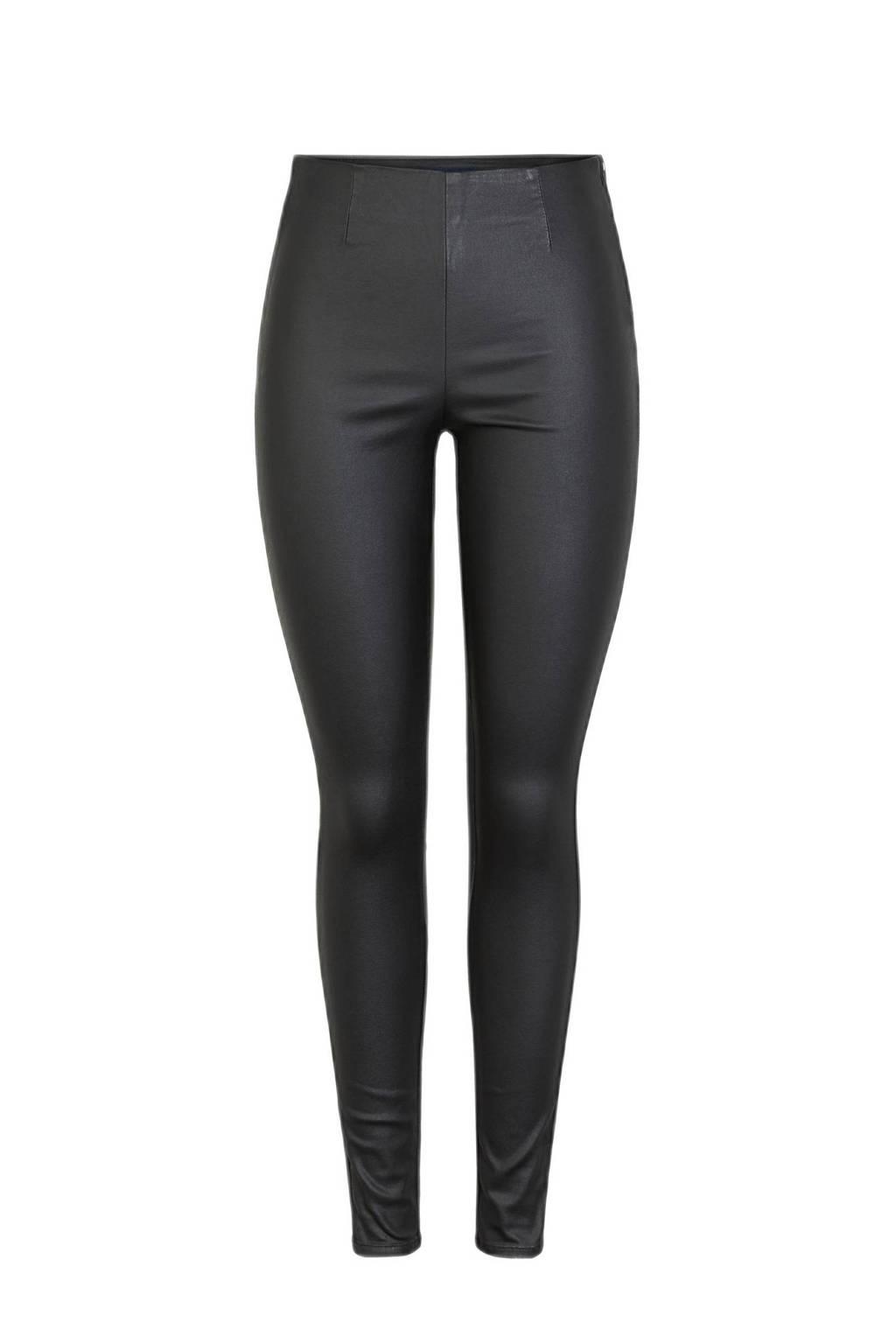 PIECES coated legging, Zwart