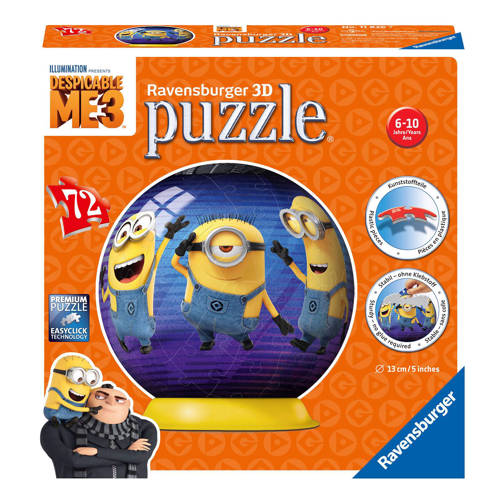 Ravensburger Despicable Me 3 puzzleball 3D puzzel 72 stukjes kopen
