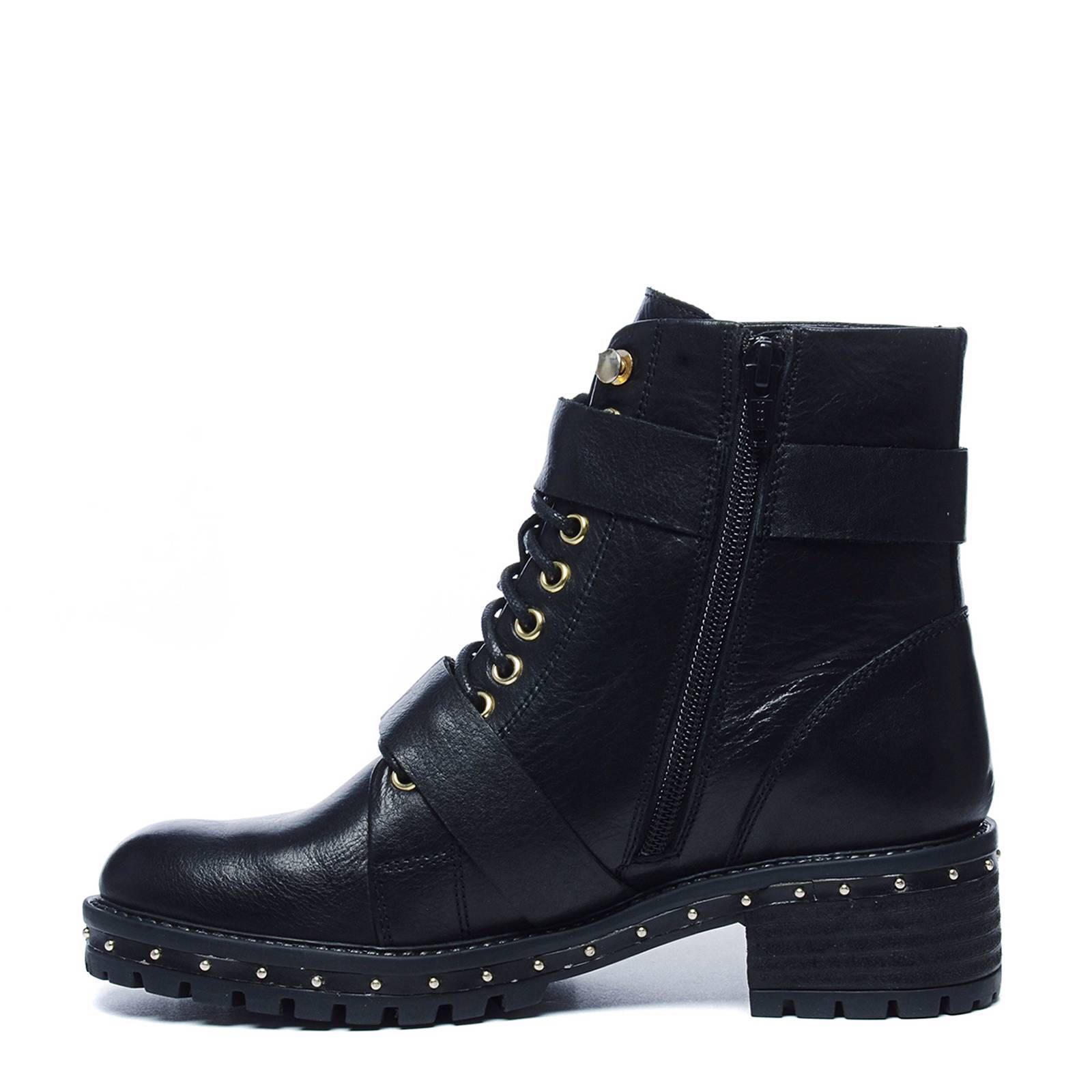 biker boots met hak