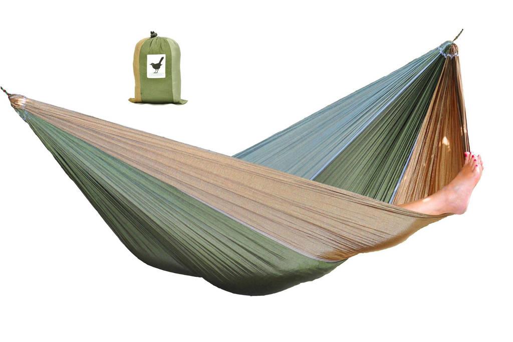 More Than Hip hangmat Single Camouflage  (290 x 145 cm), Olijfgroen, khaki, legergroen