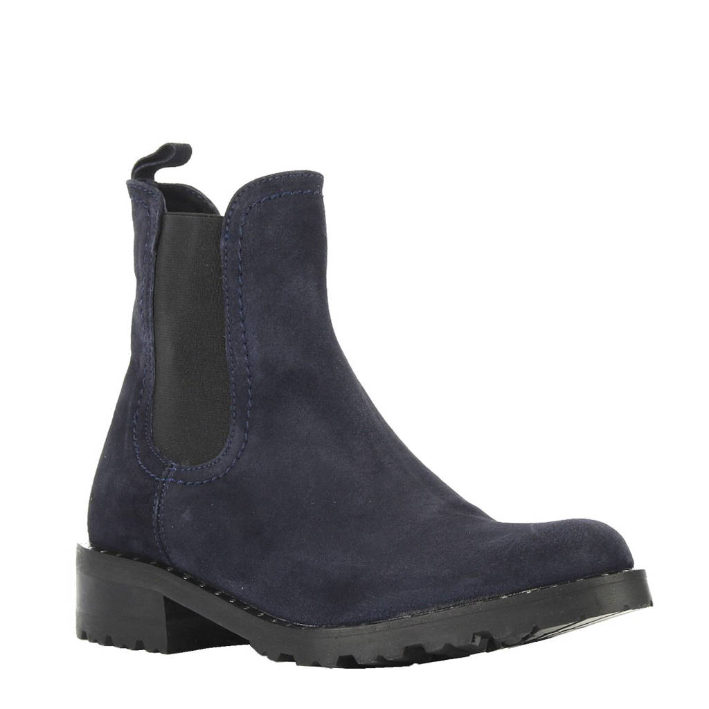 Lamica suède chelsea boots, Donkerblauw