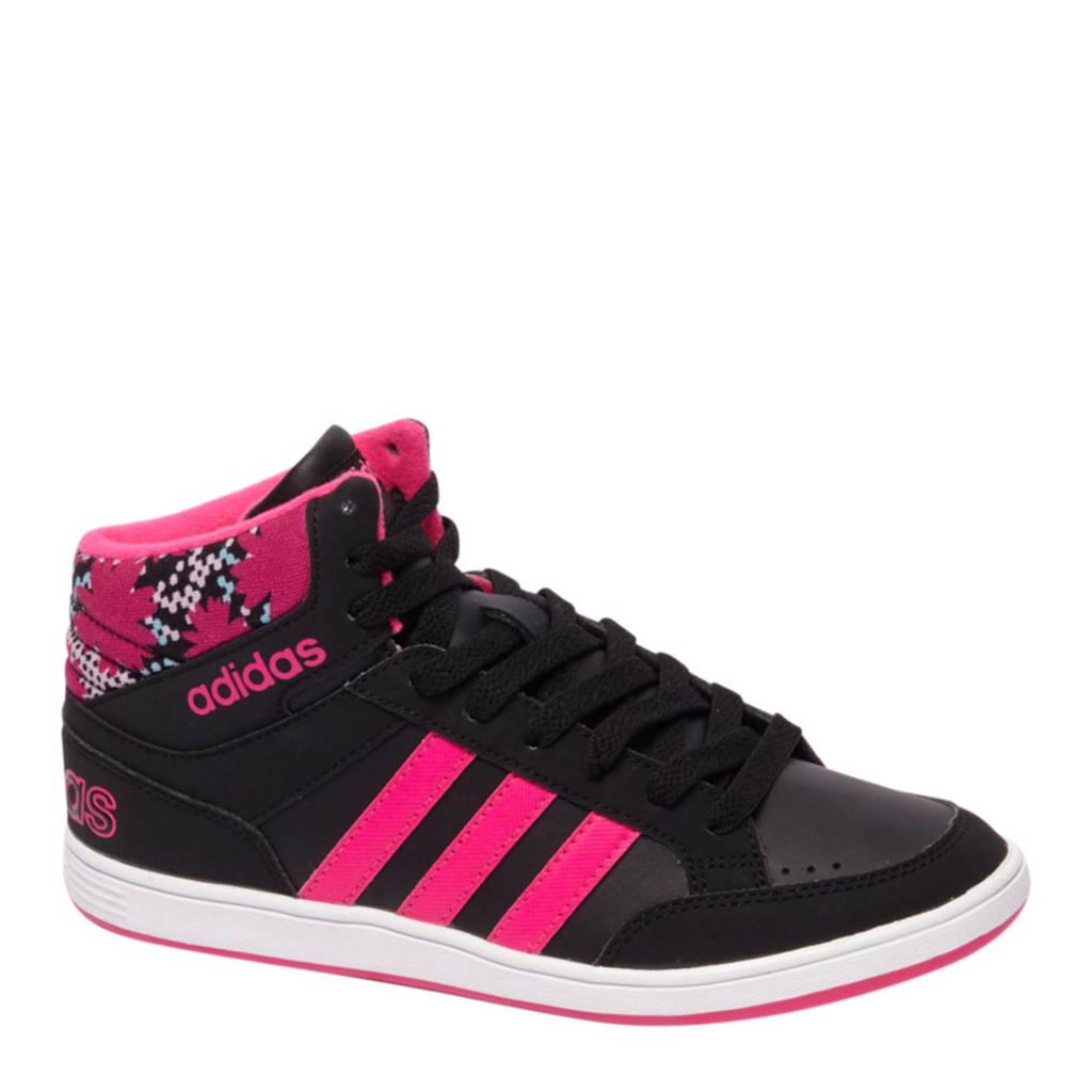 5e51360e304 adidas Hoops MID K sneakers, Zwart/roze