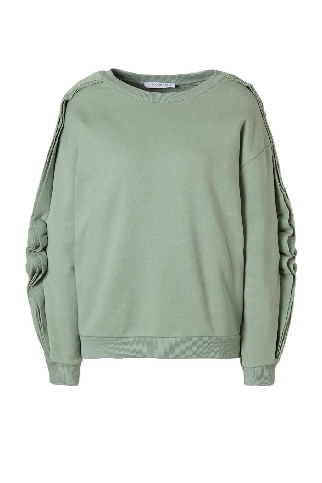 Mango sweater, Mintgroen
