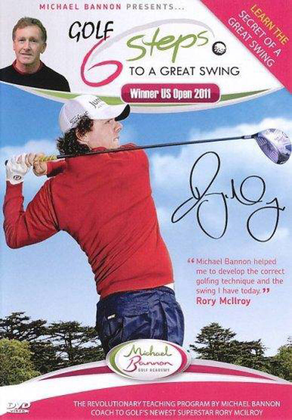 Golf - 6 steps to a great swing (DVD)