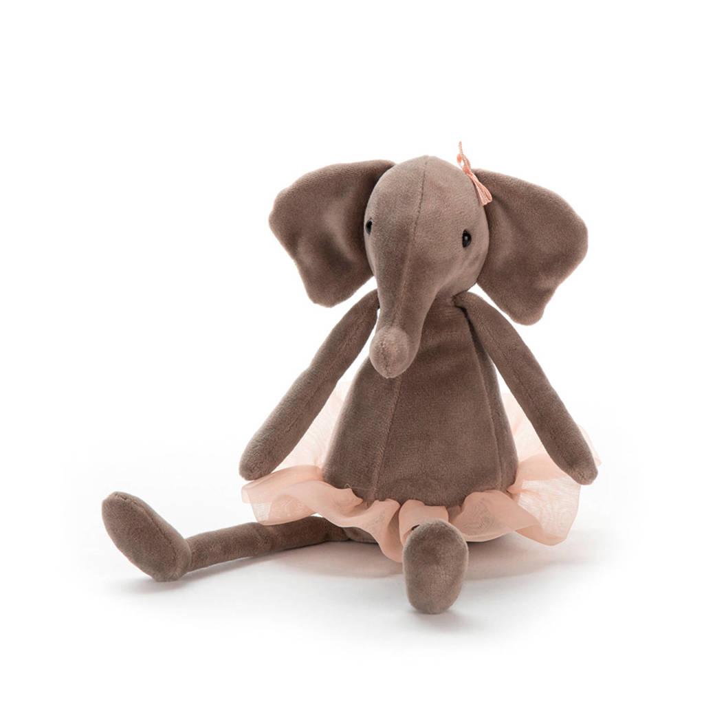 Jellycat Dancing Darcey olifant knuffel 23 cm