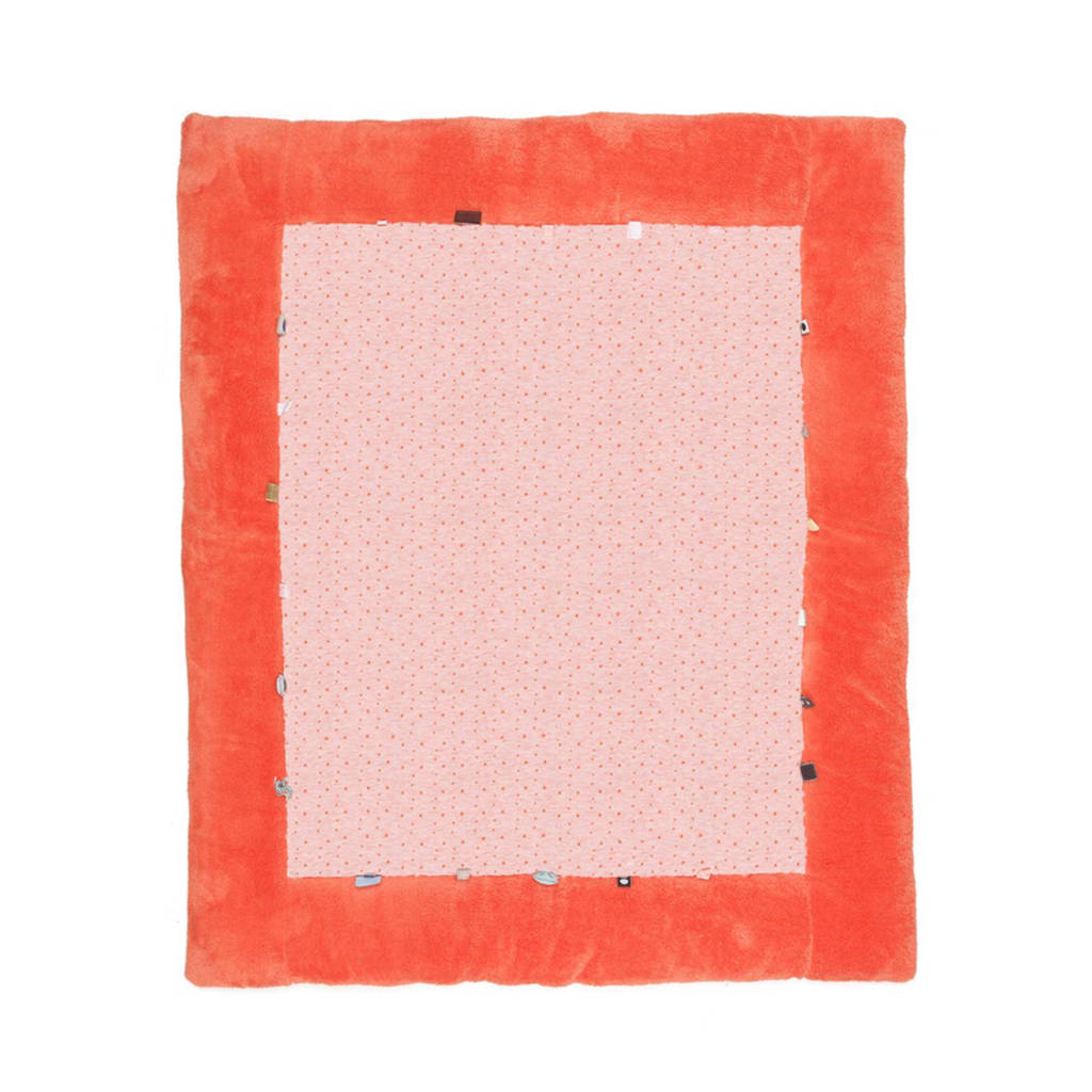 Snoozebaby Cheerful Playing boxkleed 85x105 cm sunset coral, Sunset Coral